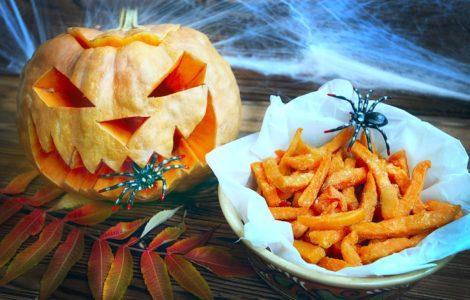 Сладкий картофель на Хэллоуин